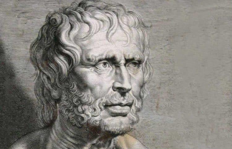 Seneque le philosophe vivant et créant à l'époque de l'Empreur neron